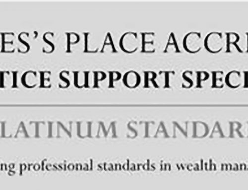 Peter achieves Platinum Accreditation through St. James's Place Wealth Management